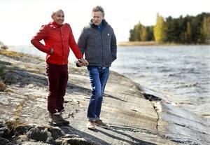 Konstnären Lars Lerin tillsammans med maken Manoel