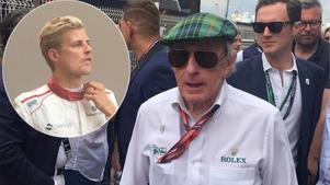 Legendaren Sir Jackie Stewart var på plats i Monaco och kommenterade Marcus Ericsson för Sportens räkning.