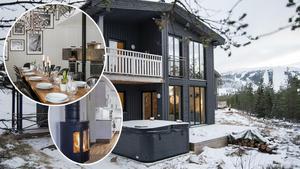 Flera lyxiga fjällstugor finns med på veckans Klicktoppen i Dalarna. Bild: Montage