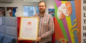 Peter Fredriksson, kulturskolechef, ser utmärkelsen som hedrande och ärofyllt.