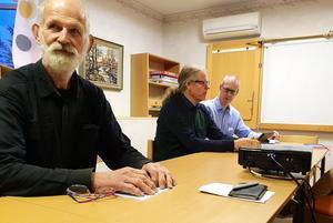Rolf Ivarsson från Vekhyttan deltog i mötet om kollektivtrafik med Mats Gunnarsson och Johan Ljung från Region Örebro län/ Länstrafiken.Foto: Privat