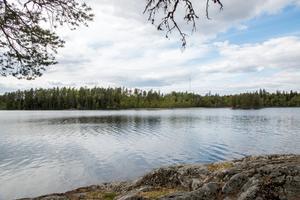 Långsjön, Surahammar. På andra sidan sjön hoppas kommunen att det ska byggas bostäder framöver. Ett stort område vill man avsätta för bostäder.