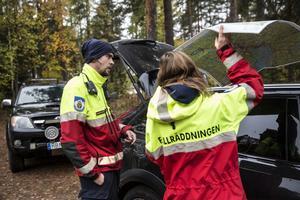 Fjällräddningen deltar i sökarbetet i Grycksbo.