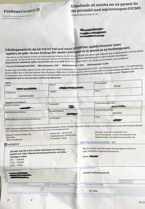 Flera bilägare i Västernorrland har fått erbjudandet från Svensk fordonsgaranti.