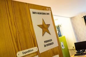 Guldstjärnan är ett kvitto på bra service och vänligt bemötande.