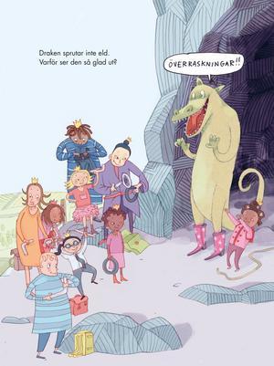 En brokig skara prinsessor hjälper varandra i