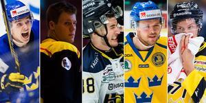 Fem killar som antingen imponerat på svensk mark eller i en svensk landslagsdress. Foto: Bildbyrån.
