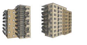 Så kan de nya husen vid Karlfeldtsgatan komma att se ut.Illustration: SHH