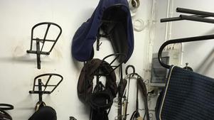De två nyaste sadlarna, men inte alla, stals i sadelkammaren på Ellberga.