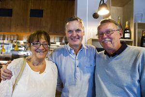 Maje Lindholm, Conny Silfver och Bosse Lindholm.