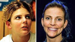 Vänster: Simhopparen Anna Lindberg är bara 15 år, men har redan plockat hem medaljer i junior-VM. Foto: Håkan Risberg.Höger:  Anna är högaktuell 2018 i jubileumsomgången av