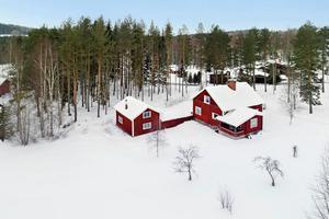 Detta hus i Leksands kommun var det mest klickade huset på Hemnet, sett till hus från Dalarna. Foto: Svensk Fastighetsförmedling Leksand