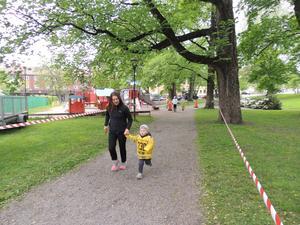 På Brobergsloppet fick man springa så manga varv man orkade på 30 minuter.  Läsarbild: Leif Blomkvist.
