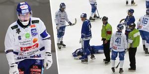Martin Karlsson fick en smäll mot huvudet i onsdagens match. Själv minns han ingenting från situationen, där han fick en hjärnskakning.