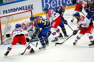 Sverige föll tungt och klart mot Tjeckien i OS-genrepet. Bild: TT