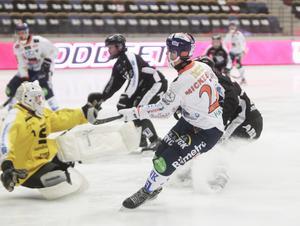 Christian Mickelsson var den för kvällen spetsigaste forwarden i Bollnäs, och var nära mål redan före paus. I andra halvlek satte han två raka.