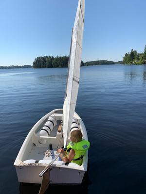 En segeltur på Trösken för Wilma Bengtsson Foto: Elisabeth Peter