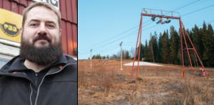 Daniel Andersson och de andra på Fjällberget tvingas nu kasta in handduken. Kostnaden för att tillverka snö är inte ekonomiskt försvarbar med så kort tid kvar av vintern.