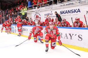 Det var deppigt vid Morabåset efter fredagens förlust. Foto: Daniel Eriksson/Bildbyrån