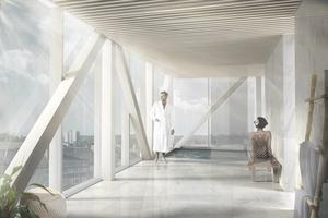 Överst på det gamla slangtornet finns snart en relaxavdelning. Bild: Lönnqvist&Vanamo Architecs