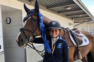 Sissela Smith från Sala tog SM-silver i sitt första seniormästerskap. Foto: Privat