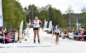 Så här såg det ut för ett år sedan, när Falun-Borlänges Maja Dahlqvist vann damernas final mot Moras Emma Björklund.