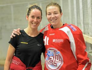 Lina Wester och Klara Myrén gläds åt att få spela ishockey tillsammans igen – åtta år efter att duon splittrades i Leksand när Myrén valde att spela collegehockey i USA.