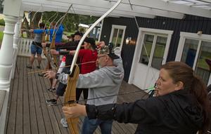 Från vänster: Jenny Allansson, Tobbe Öhman, Britt-Marie Larsson, Michael Cedervall, Mikaela Cedervall, Pierre Larsson och Heidi Vestheim.
