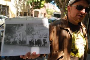 Ryan, guide på vår vandring i beatförfattarnas spår i San Francisco.