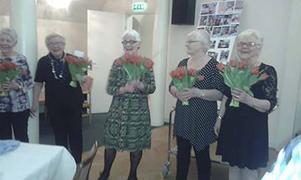 Chatarina Eriksson, Hanna Souminen, Kerstin Andersson, Ella Olsson, Eevi Eklund. Foto Inger Trosell.