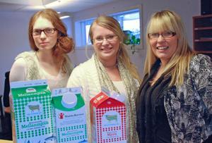 Anna Hultgren, Emilie Jobs och Ewa Wik.
