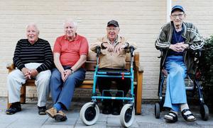 Karl Johansson, Bror Tynell, Tore Andersson och John Eriksson såg marknaden från första parkett.