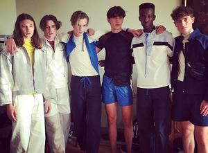 Modellerna som visar upp Naemis senaste kollektion på Grand Hotell i Stockholm under Stockholm Fashion Week.