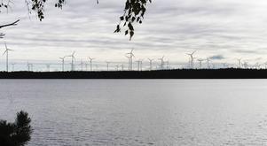 Så här kommer en del av vindkraftsparken att se ut från Sörbränningen.