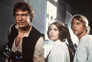 Harrison Ford, Carrie Fisher och Mark Hamill i