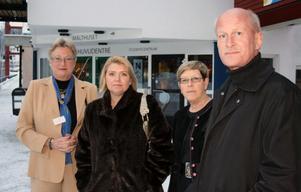 Lisa Eklund, Petra Råsten Almqvist, Gudrun Nordborg och Sören Carlsson Sanz föreläste på Brottsoffersmyndighetens temadag om våld och unga brottsoffer.
