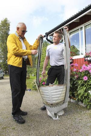 Gösta Viking får ta med sig en del av planet hem till Malmö.