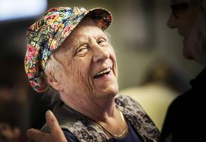 Ingrid Lindström hade roligt på dansgolvet.