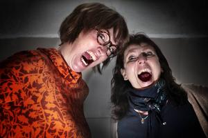 """Marlen Ljusberg, till vänster, är initiativtagare till konstprojektet """"Bit ihop och bit ifrån!"""" som hon driver tillsammans med Åsa Domeij."""