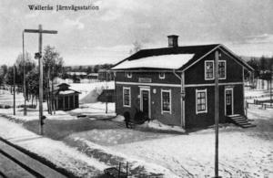 Stationen under storhetstiden i början av 1900-talet.