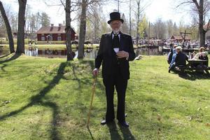 Elvert Eriksson var utklädd till konsuln Göran Fredrik Göransson, grundare av Sandvik och tidigare ägare till Högbo bruk.