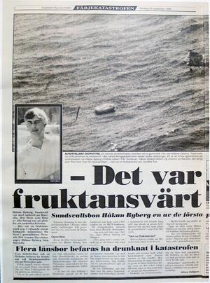 Tidningsklipp från Dagbladet 1994.