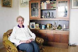 Födelsedagsbarn. Sigrid Wester fyller 94 år den 2 maj. Hon har redan blivit firad av vänner och bekanta.