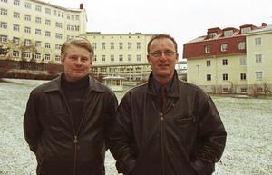 Claes Johansson och Börje Lundholm satsade på att förnya området där Riksförsäkringsverkets sjukhus låg.