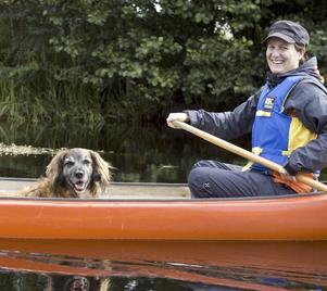 Kristin Andersson och hunden Björne har hittat sin nya hobby.