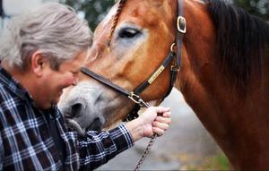 Jan-Ivan beskriver sin häst som både klok och lugn.
