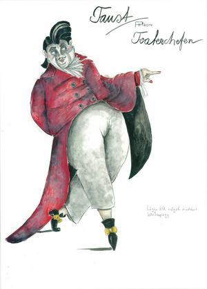 Skisser till kostym av Peter Holm.