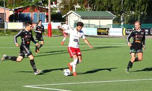 Mehmed Hafizovic blev matchhjälte mot Strömsberg med sitt 4–0-mål.