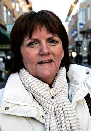 Monica Holmström, 54, Östersund:– Jag vet inte. Det går inte att säga rakt av.