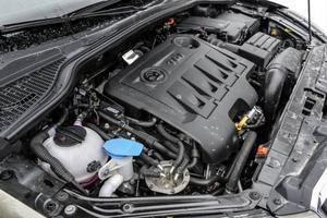 Bildtext 6: Volkswagens 2,0-litersdiesel återfinns i ett närmast oräkneligt antal bilmodeller från världens alla hörn. I nya Skoda Yeti kan man få den med antingen 110, 140 eller 170 hästkrafter.Foto: Anders Wiklund/TT